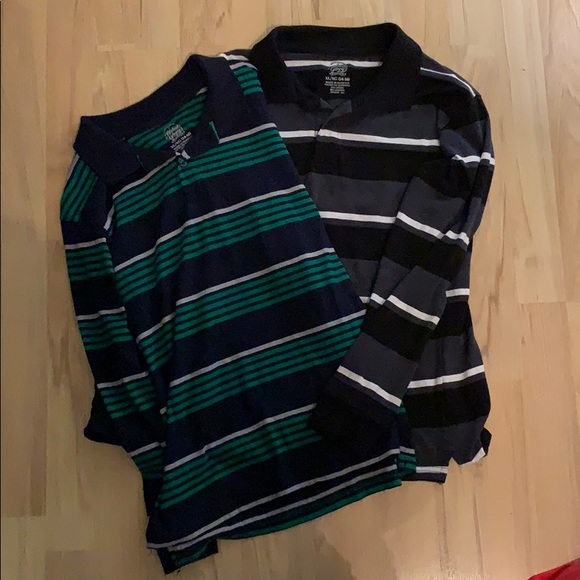3f23065f5 Faded Glory Shirts & Tops | Bundle Of Long Sleeve Striped Polos ...